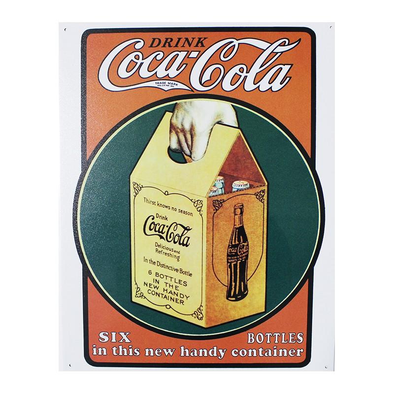 plaque m tal publicitaire 30x40cm plate coca cola. Black Bedroom Furniture Sets. Home Design Ideas