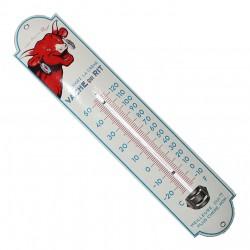 Thermomètre émaillé bombé hauteur 30cm : LA VACHE QUI RIT.