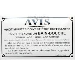 Plaque émaillée humoristique : BAIN DOUCHE...