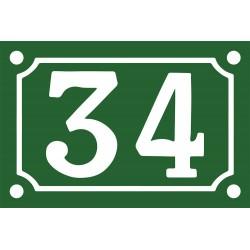 Numéro de rue émaillé 10 x 15 cm.