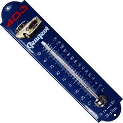 Thermomètre émaillé, bombé hauteur 30cm : PEUGEOT 403