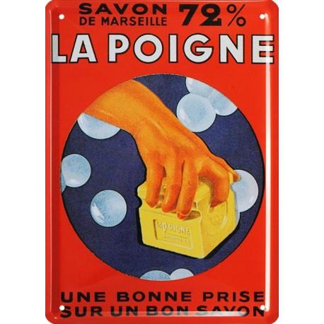 plaque publicitaire épaisse 15 x 21cm Savon le Pigeon Voyageur.