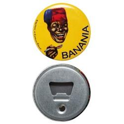 Magnet décapsuleur plat de 6 x 6 cm, Banania
