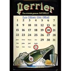 plaque publicitaire bombée en relief Perrier calendrier.
