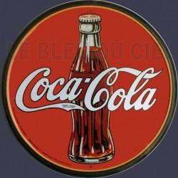 Plaque métal publicitaire diam 30cm plate : Coca Cola