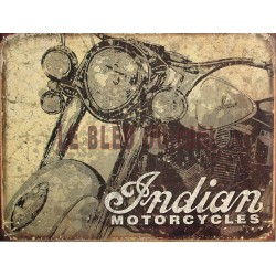 Plaque métal publicitaire 30 x 40 cm plate : Indian Motorcycles.
