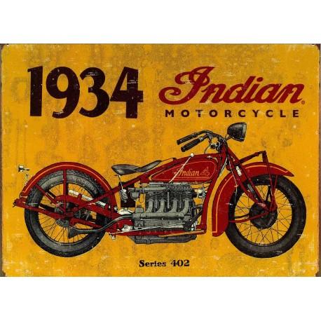 Plaque m tal publicitaire plate 30 x 40 cm indian 1934 vintage - Plaque publicitaire vintage ...