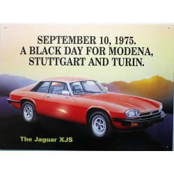 Plaque métal publicitaire 30 x 40 cm relief : Jaguar XJS.