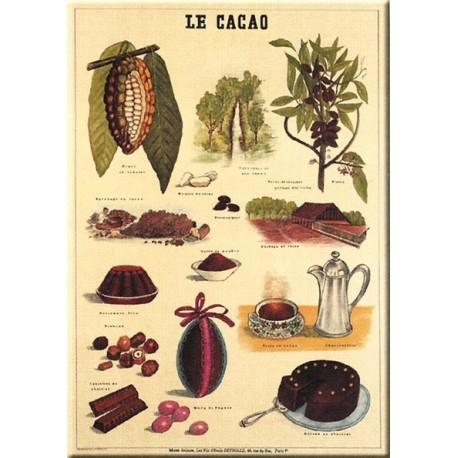 Plaque publicitaire 15 x 21 cm plate Le Cacao