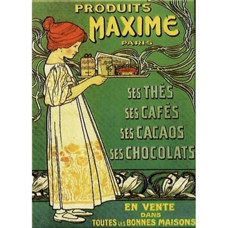 Plaque publicitaire 15 x 21 cm Produits Maximes.