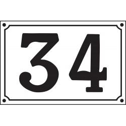 Numéro de Rue émaillé 20 x 30 cm.