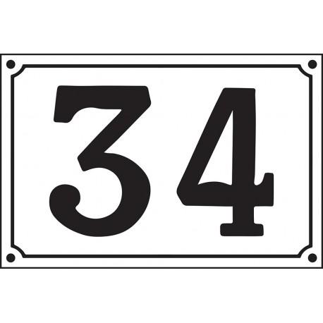 Numéro de Rue émaillé 20x30cm vert (4 chiffres maxi). Délai + -20 jours
