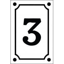 Numéro de rue vertical 10 x 15 cm.