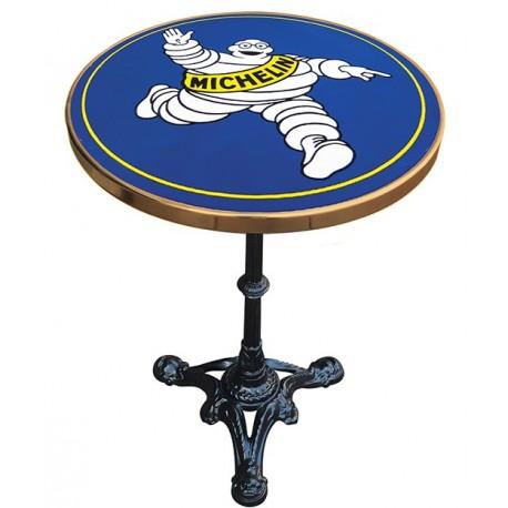 Décoration int/extérieure  : Table bistrot émaillée en relief diamètre 55 cm : Michelin