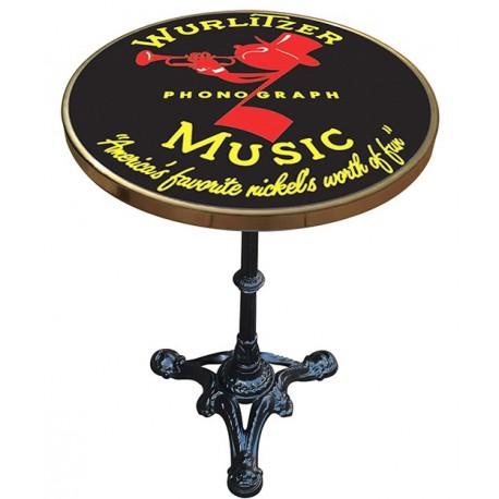 Décoration int/extérieure : Table bistrot émaillée en relief diamètre 50 cm : Wurlitzer