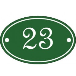 Numéro de rue ovale émaillé 7 x 11 cm