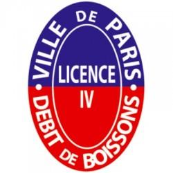 Plaque émaillée professionnelle Licence IV  Ovale Personnalisable 13x20cm