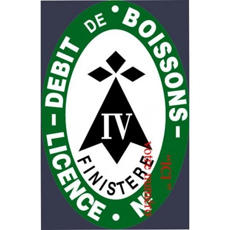 Plaque émaillée Licence IV Bretagne  Personnalisable