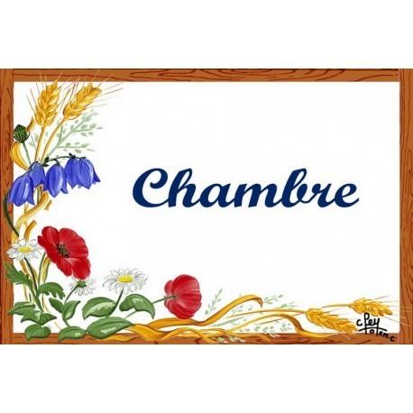 Plaque émaillée décor Fleurs des Champs Format 7x10,5cm