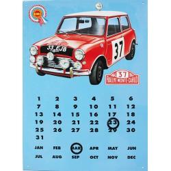 Calendrier métal publicitaire 30x40 cm plat : Mini Monté-carlo