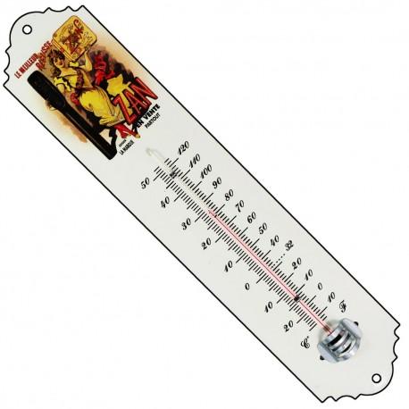 En décoration intérieure/extérieure Thermomètre émaillé bombé hauteur 30cm ZA
