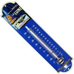 Thermomètre émaillé bombé hauteur 30cm : PÂTES LA LUNE