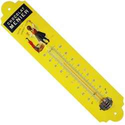 Thermomètre métal bombé hauteur 30 cm : FILLE CHOCOLAT MENIER