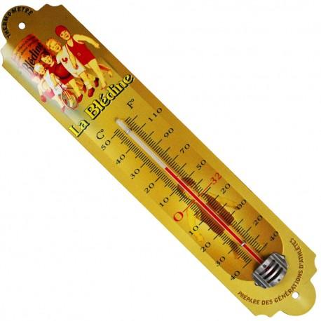 Décoration intérieure/extérieure Thermomètre métal bombé hauteur 30cm Blédin
