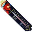 Thermomètre métal bombé hauteur 30 cm : VACHE QUI RIT