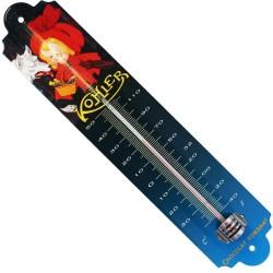 Décoration intérieure/extérieure Thermomètre métal bombé    hauteur 30cm Chocolat Kokle