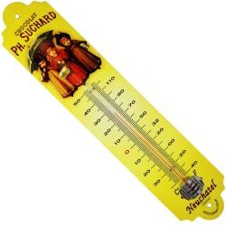 Thermomètre métal bombé hauteur 30 cm FILLES CHOCOLAT SUCHARD