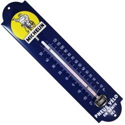 Thermomètre émaillé bombé hauteur 30cm : MICHELIN