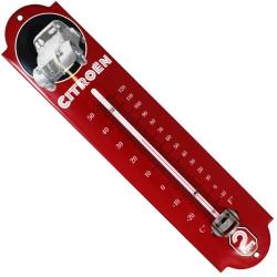 Thermomètre émaillé bombé hauteur 30cm : CITROËN  2CV