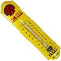 Thermomètre émaillé bombé hauteur 30cm : SHELL