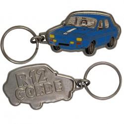 Porte-clés émaillé chromé Renault 12 Gordini.