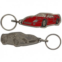 Porte-clés émaillé chromé Ferrari F40.