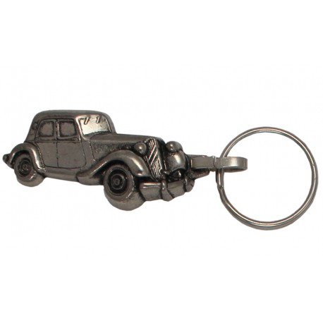 Porte-clés nickelé Citroën Traction.