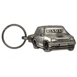 Porte-clés nickelé Renault 5 Turbo.