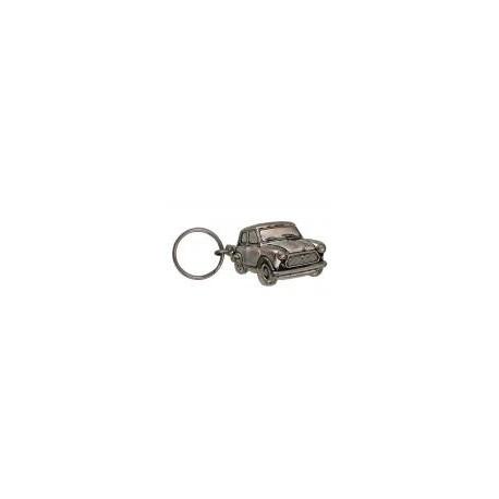 Porte-clés nickelé Austin Mini.