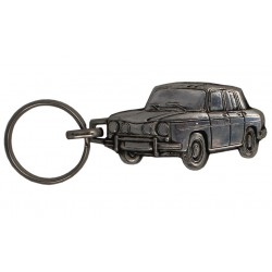 Porte-clés nickelé Renault 8 Gordini.