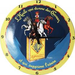 Horloge murale émaillée, bombée : YACCO