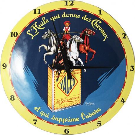 Horloge murale émaillée, bombée Diamètre 30 cm Yacco