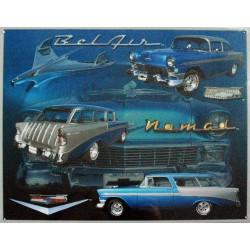 Plaque métal publicitaire 30 x 40 cm : CHEVROLET BELAIR NOMAD.