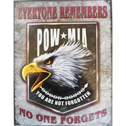plaque métal publicitaire 30x40cm : EVERYONE REMEMBERS