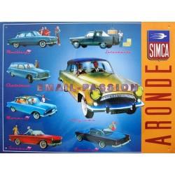 plaque métal publicitaire 30x40cm plate en relief  : Simca Aronde