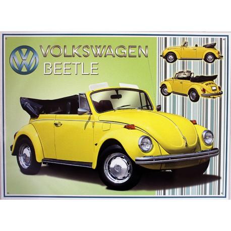plaque publicitaire 30x40cm plate :  Beetle cabriolet.