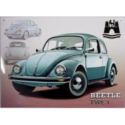 plaque publicitaire 30x40cm plate : Beetle type 1.