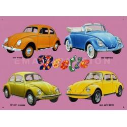 plaque publicitaire 30x40cm plate :  Beetle  1956-1975