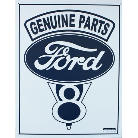 plaque métal publicitaire 30x40cm plate :  FORD GENUINE PARTS
