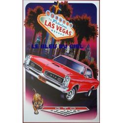 Plaque métal publicitaire 30x40cm plate : GTO Las Végas.
